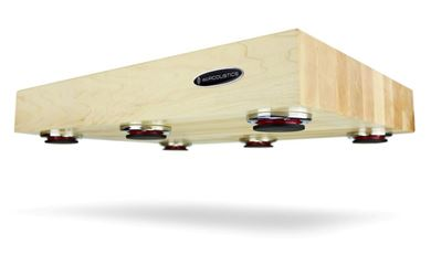 Picture of IsoAcoustics Delos isolation platform (Maple)